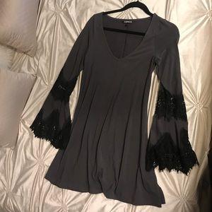 Express Long-sleeve Mini Dress Size M